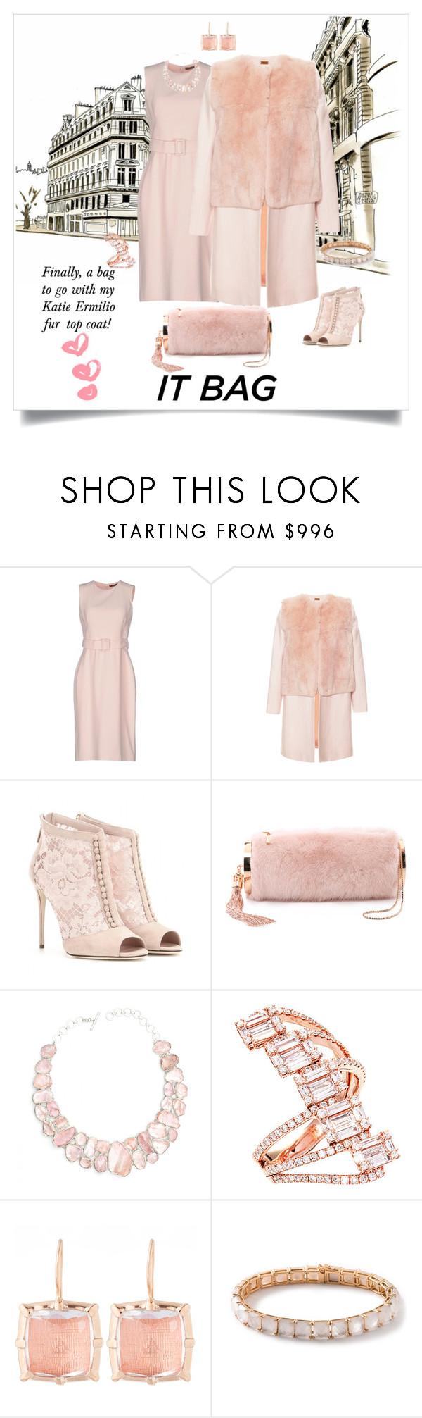 """It Bag"" by shoecraycray ❤ liked on Polyvore featuring Alexander McQueen, Katie Ermilio, Dolce&Gabbana, Monique Lhuillier, Ascension, Larkspur & Hawk, Ippolita, women's clothing, women's fashion and women"