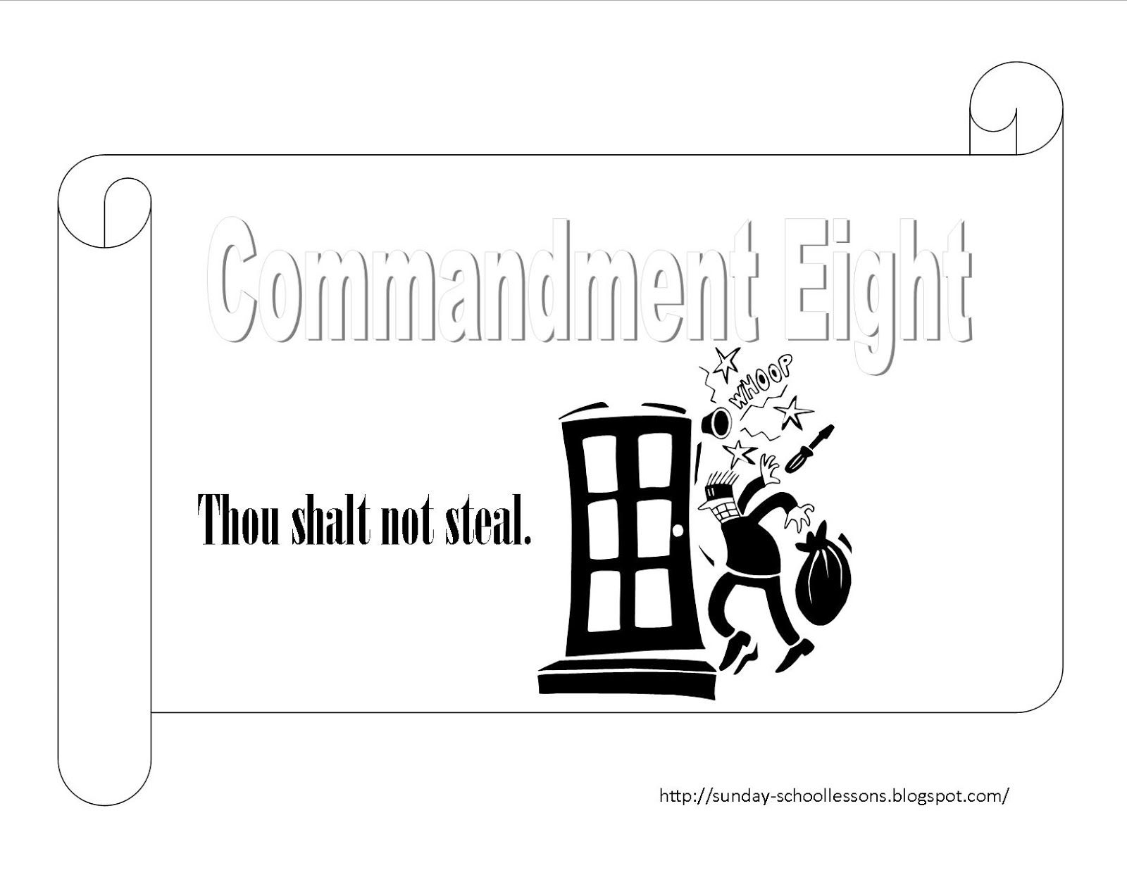 Free 10 Commandments Coloring Pages