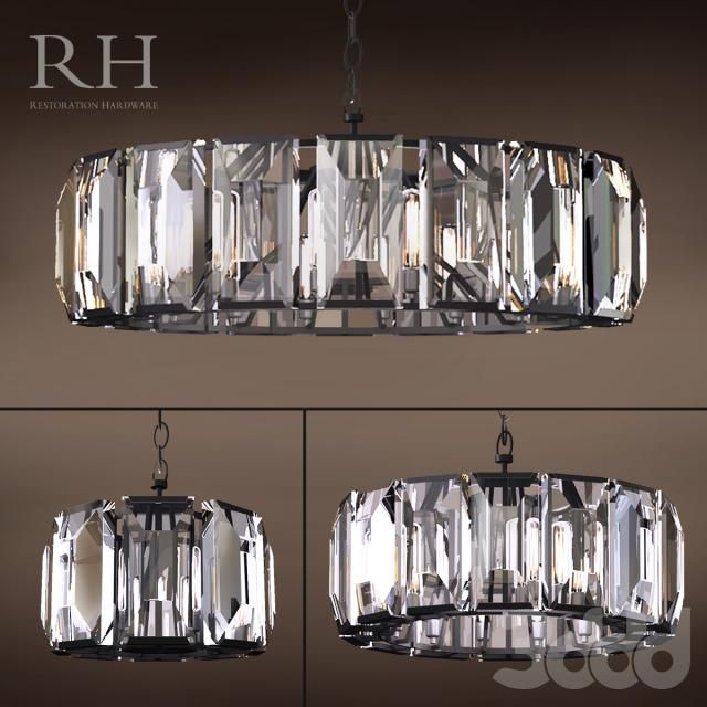 Rh Harlow Crystal Chandelier Set Of 3