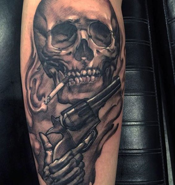 smoking skull with piston tattoo on calves for men tattoos pinterest piston tattoo tattoo. Black Bedroom Furniture Sets. Home Design Ideas
