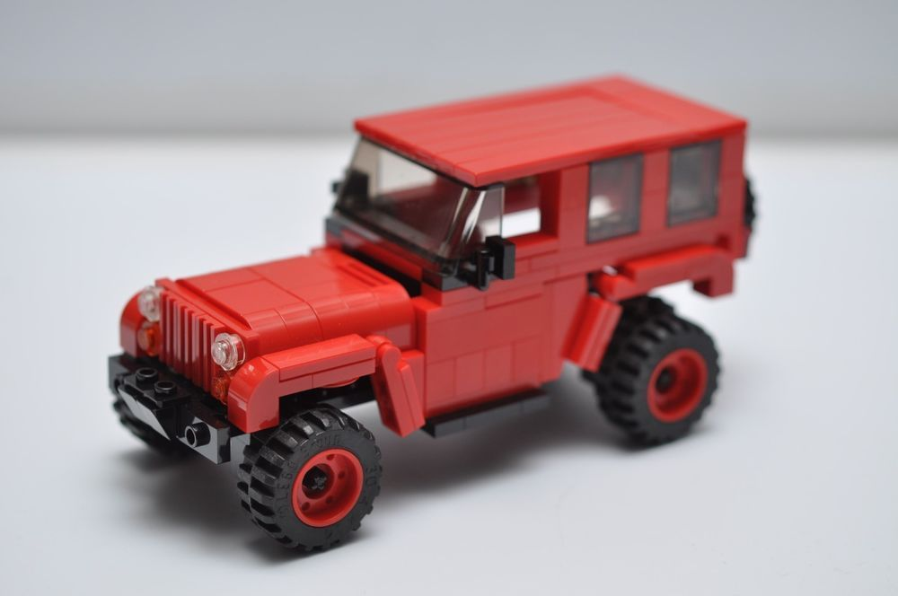 Custom Lego City Jeep Rubicon Truck Red Black Suv Speed Champions
