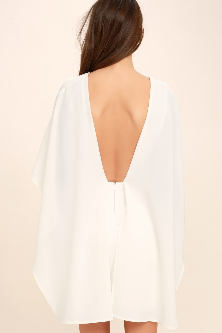 best is yet to come white backless dress #shortbacklessdress