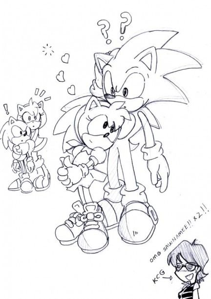 Shadamy Drawings For Coloring Classic Sonic Sonic And Shadow Sonic And Amy