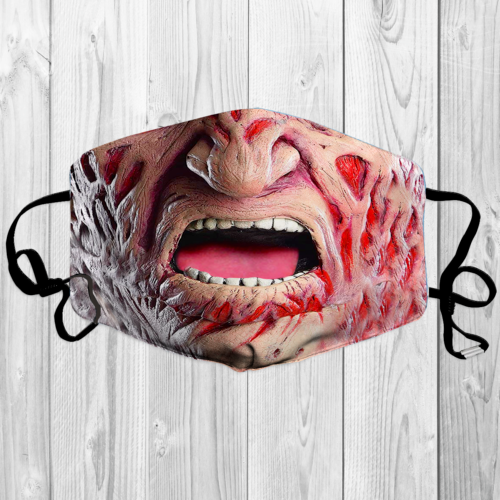 Freddy Krueger Face 3d Face Mask High Quality Washable Printed In Us Fits All Si Freddy Krueger 3d Face Freddy Krueger Makeup