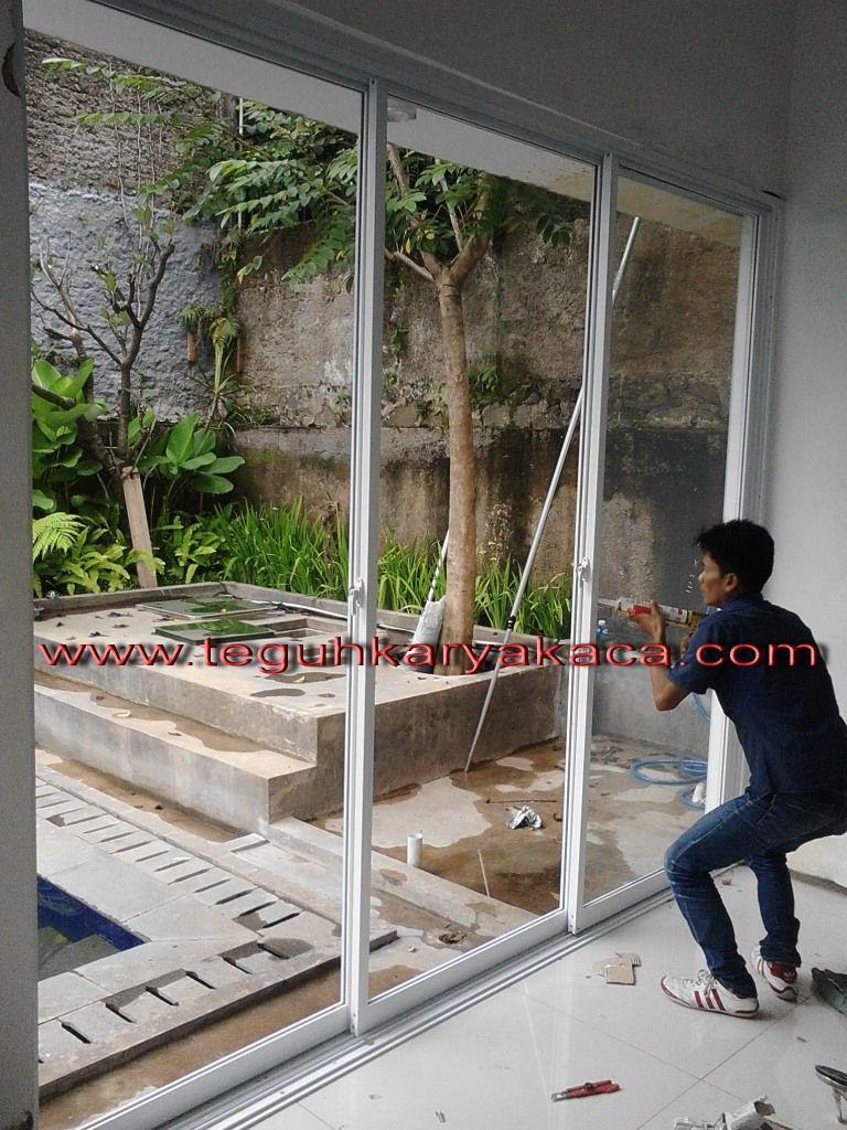 Pintu geser aluminium Sliding | Pintu geser, Taman, Pintu