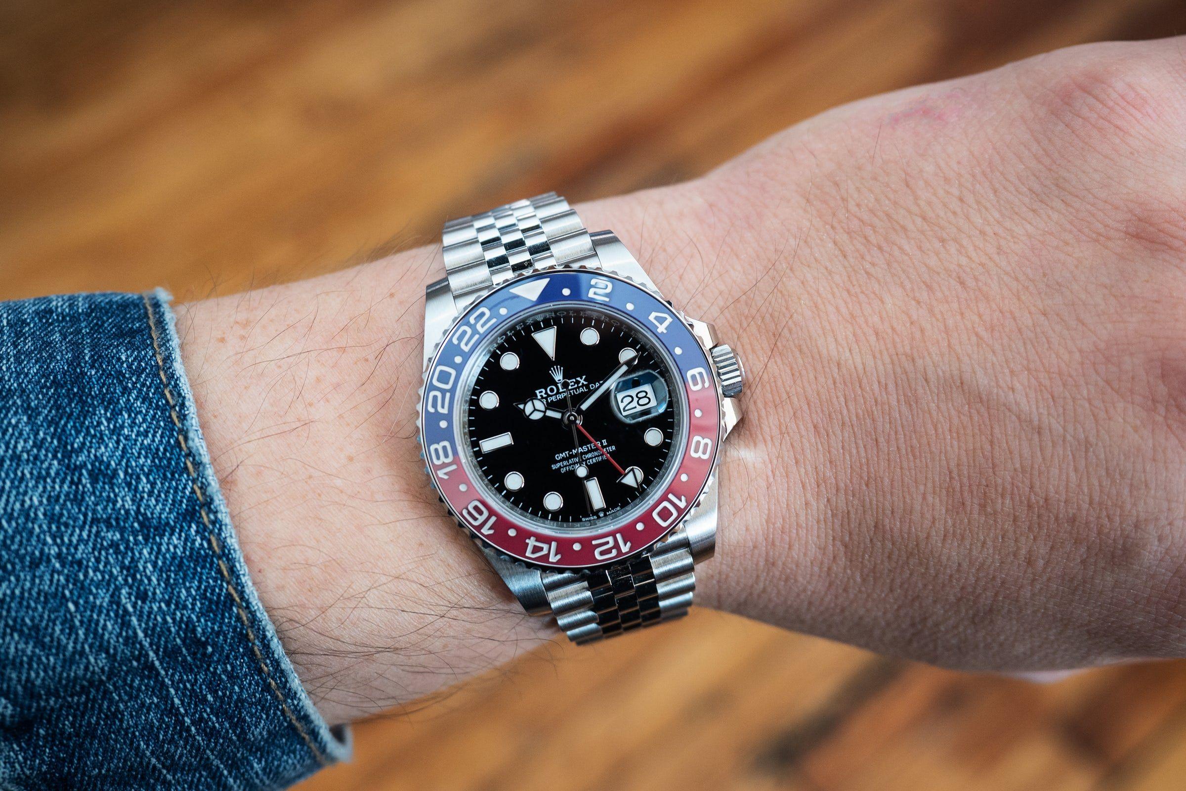 Hands On The Rolex Gmt Master Ii Ref 126710 Blro Pepsi Bezel With Jubilee Bracelet In Stainless Steel