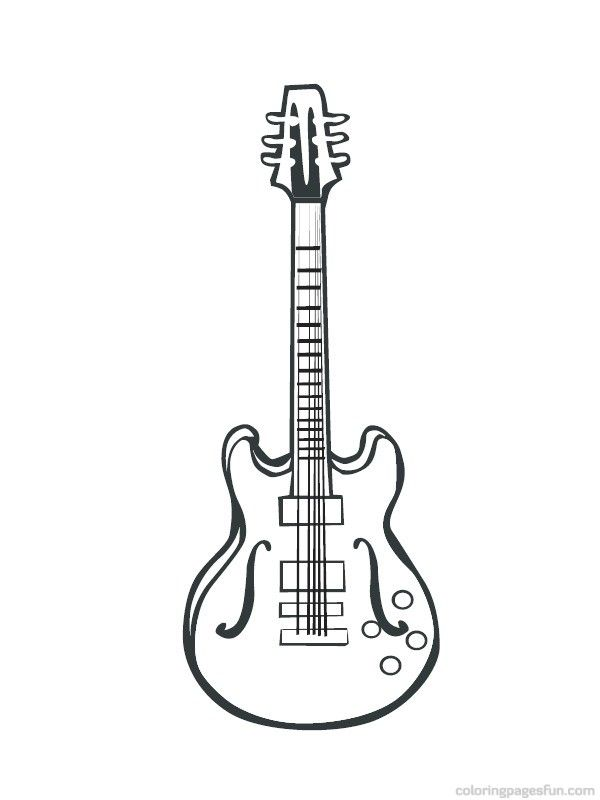 Musical Instruments Coloring Pages 37 | JAzz | Pinterest | Musical ...