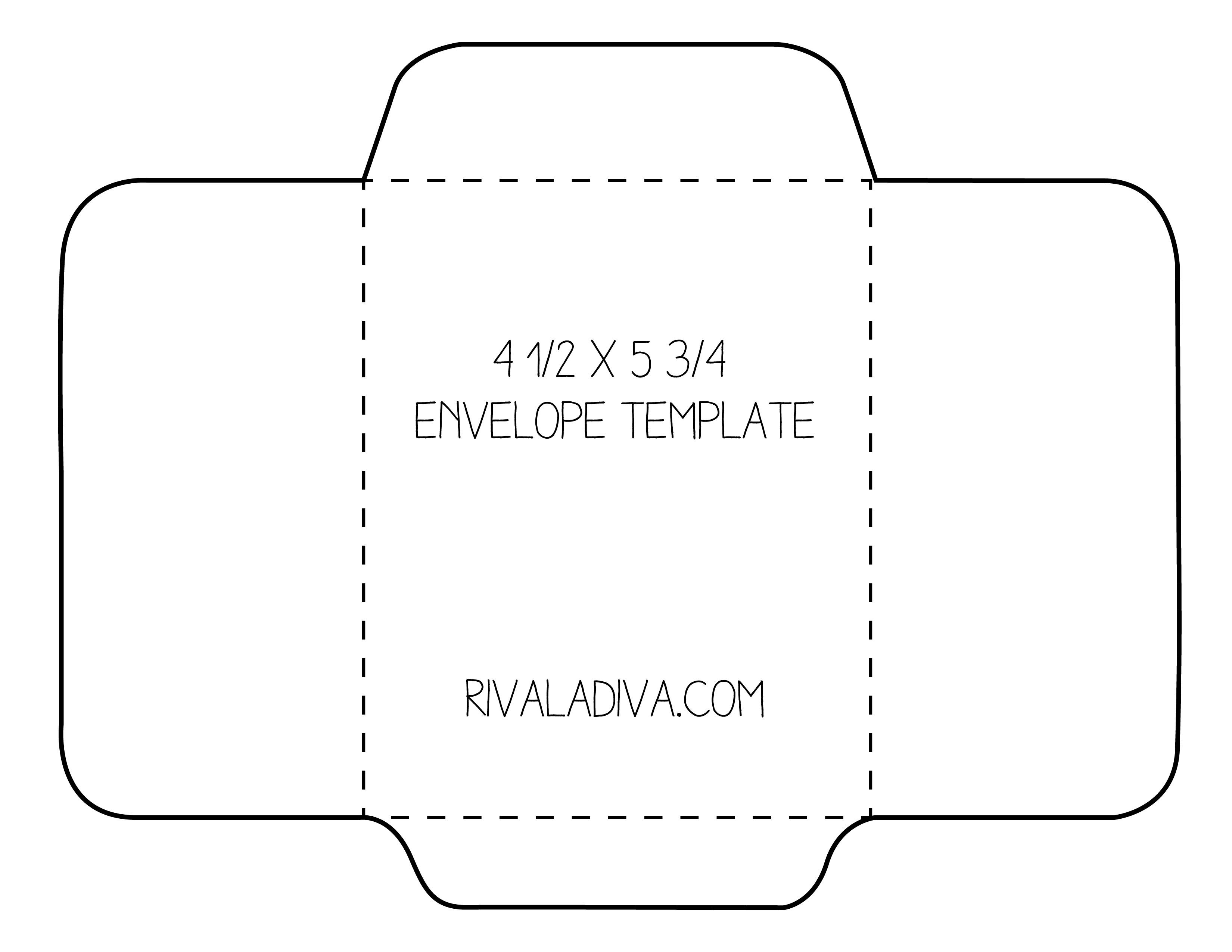 Envelope Template Envelope Template For 85 X 11 Paper