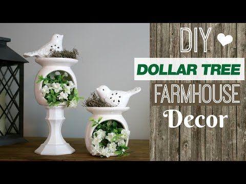 Cute Dollar Tree Farmhouse Style Decor   DIY Farmhouse Decor Dollar Tree   Farmhouse Bird Nest - YouTube #dollartreecrafts