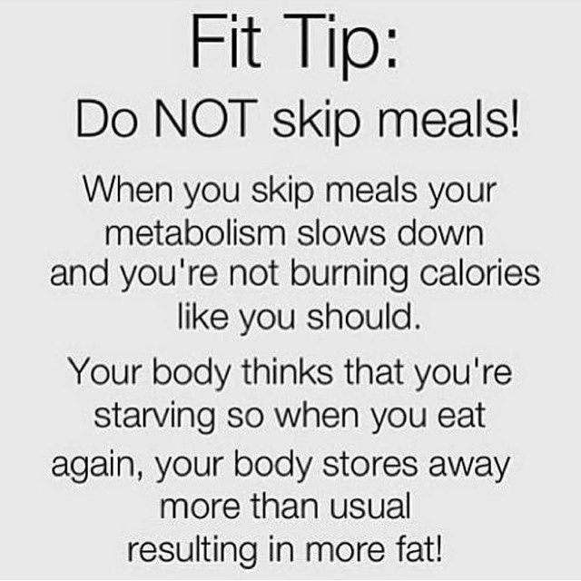 skipping meals makes you gain weight