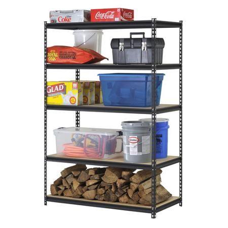 "Utility Shelves Walmart Magnificent Shelf  Can Be In One Vertical Column Or In Two Columns Edsal 48""w X Design Decoration"