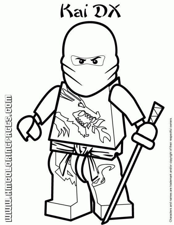 Red Ninjago Coloring Pages Ninjago Coloring Pages Lego Coloring
