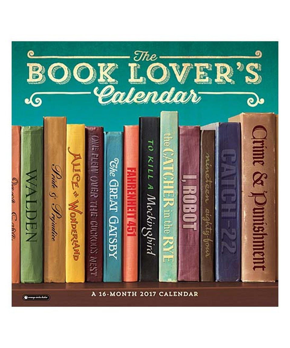 This Book Lover S Wall Calendar By Studio Oh Is Perfect Zulilyfinds Book Lovers Gifts Book Lovers The Time Machine Book