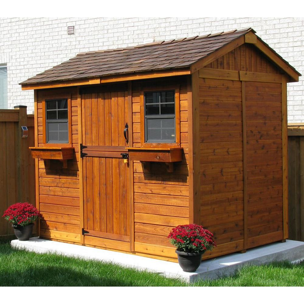 Outdoor Living Today Cabana 6 ft. x 9 ft. Western Red ... on Outdoor Living Today Cabana id=80511