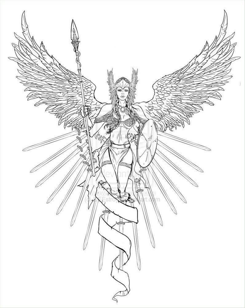 valkyrie lineart by deestroy jpg 797 1002 fantasy myth mythical