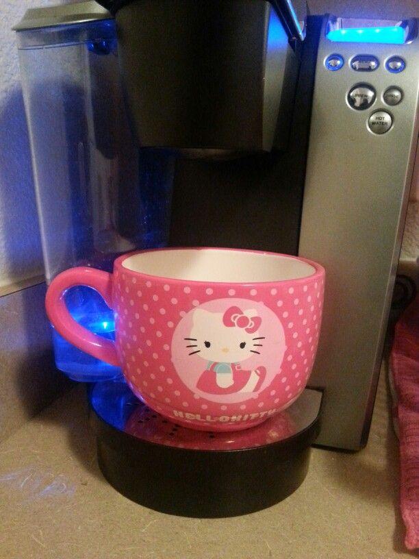 My new hello kitty mug!♡ #walmart #sale #coffee #yumMAY