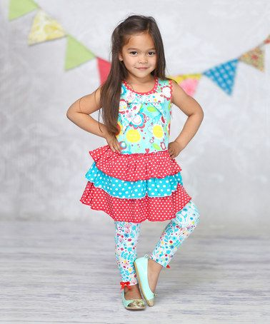 Sunshine Madi Ruffle Tank & Leggings - Infant, Toddler & Girls on #zulily! #zulilyfinds