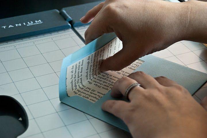 DIY Book Pages Envelope Liner