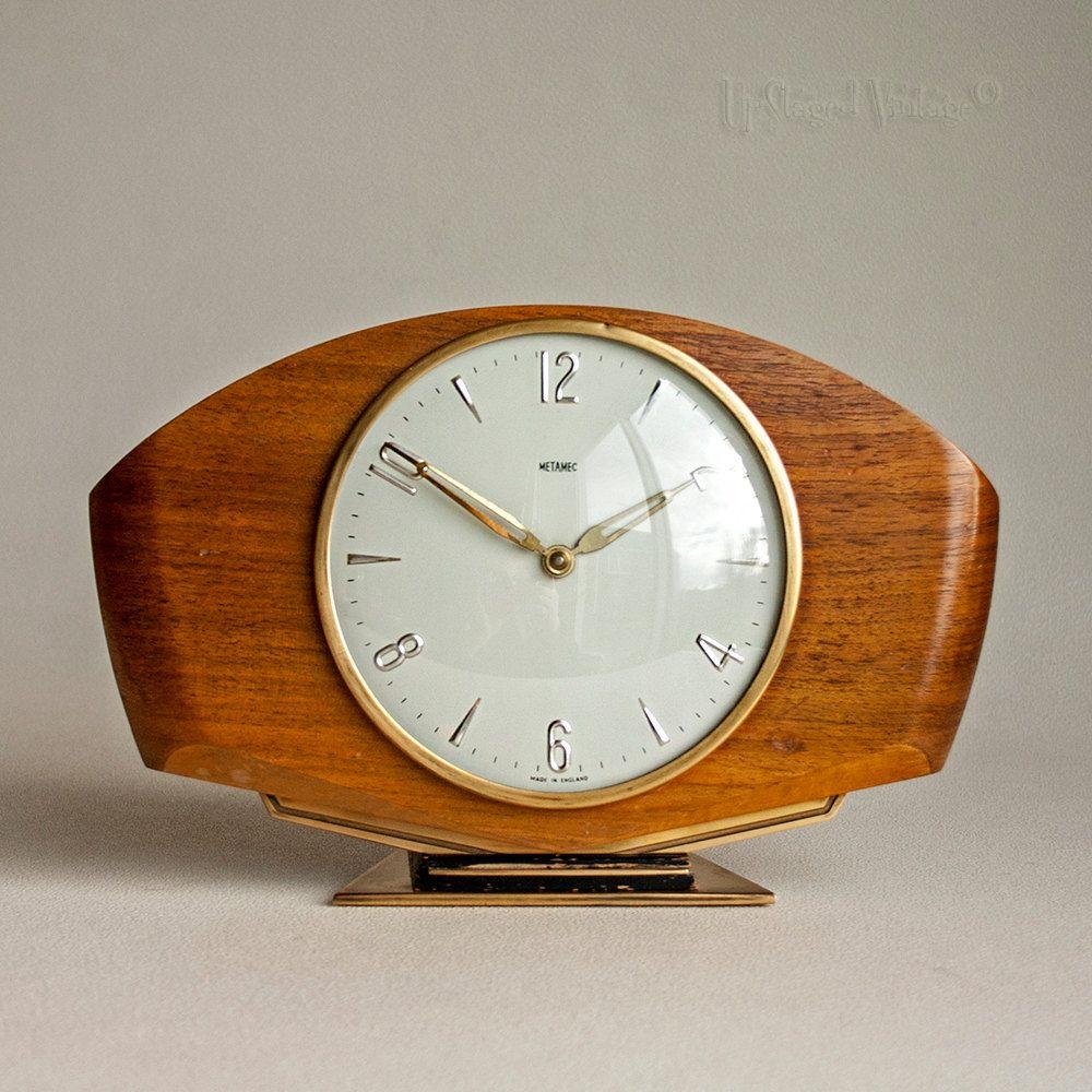 Vintage retro 1960s teak case smiths clockwork chiming mantle vintage retro 1960s teak case smiths clockwork chiming mantle clock by upstagedvintage on etsy gamestrikefo Gallery