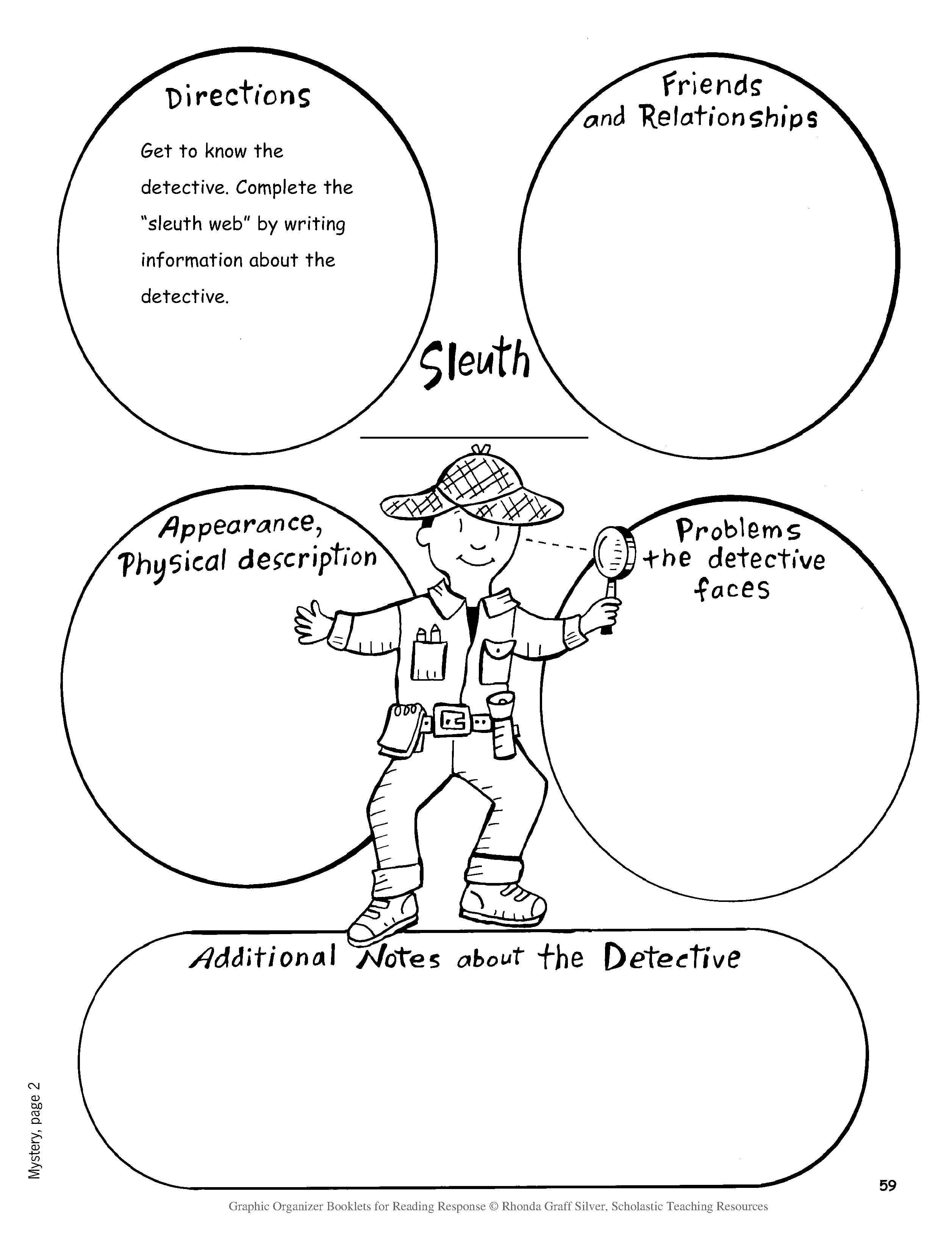 Mystery Writing Worksheets