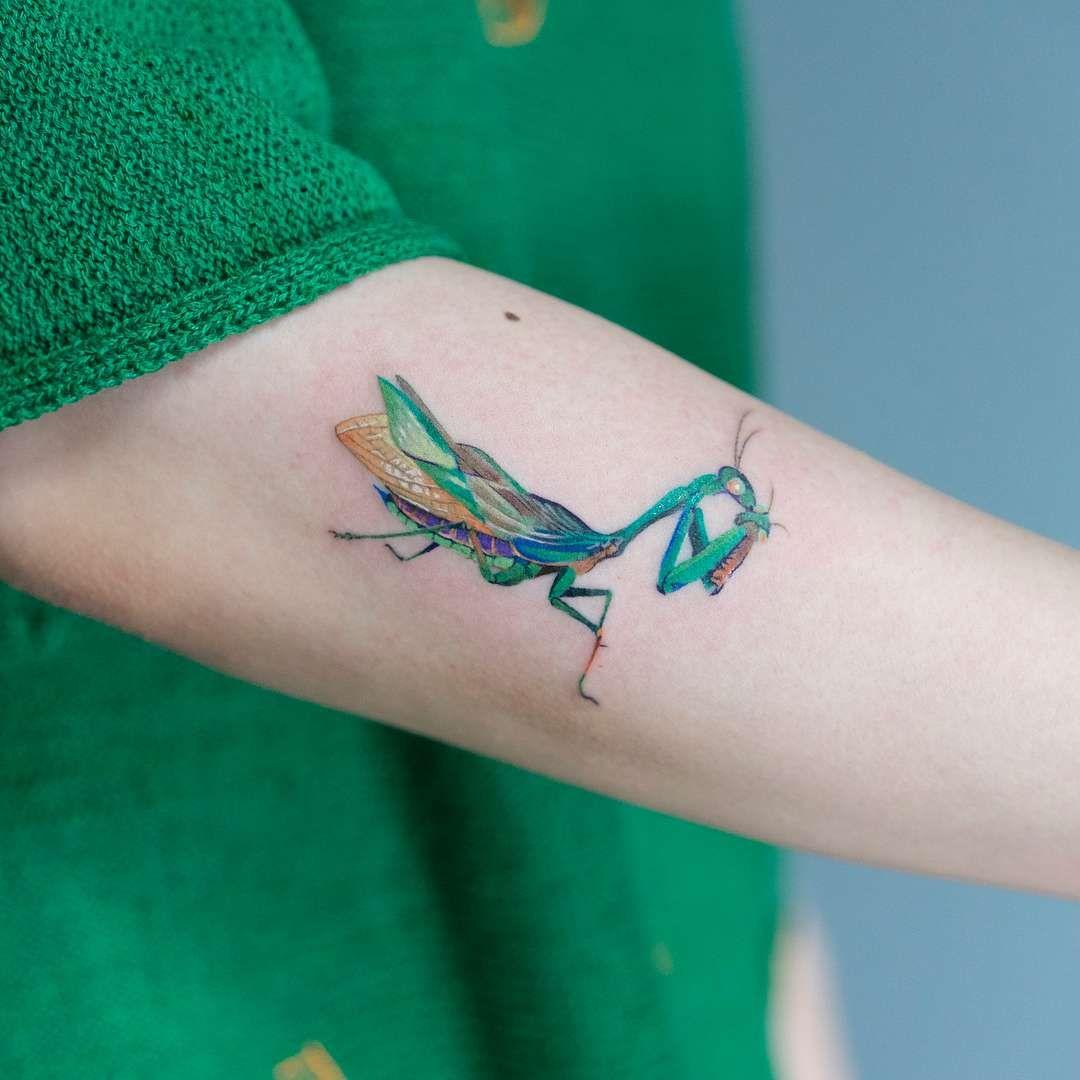 Zihee S Minimalistic Tattoo Minimalist Tattoo Mantis Tattoo Tattoos