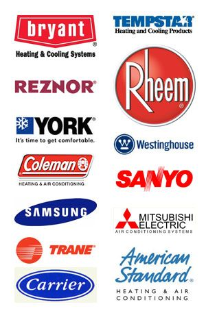 Brands We Carry Bryant Reznor York Coleman Samsung Trane