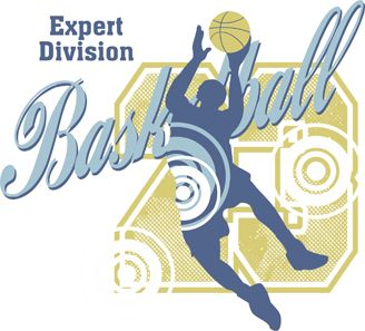 Expert Division Basketball Graphic is completely and instantly customizable in CorelDraw or Illustrator!