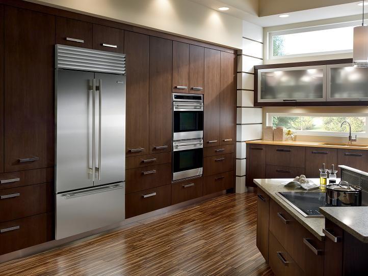 Frigorifico y hornos empotrados   Diseño de cocina de lujo, Cocina renovada, Horno empotrado