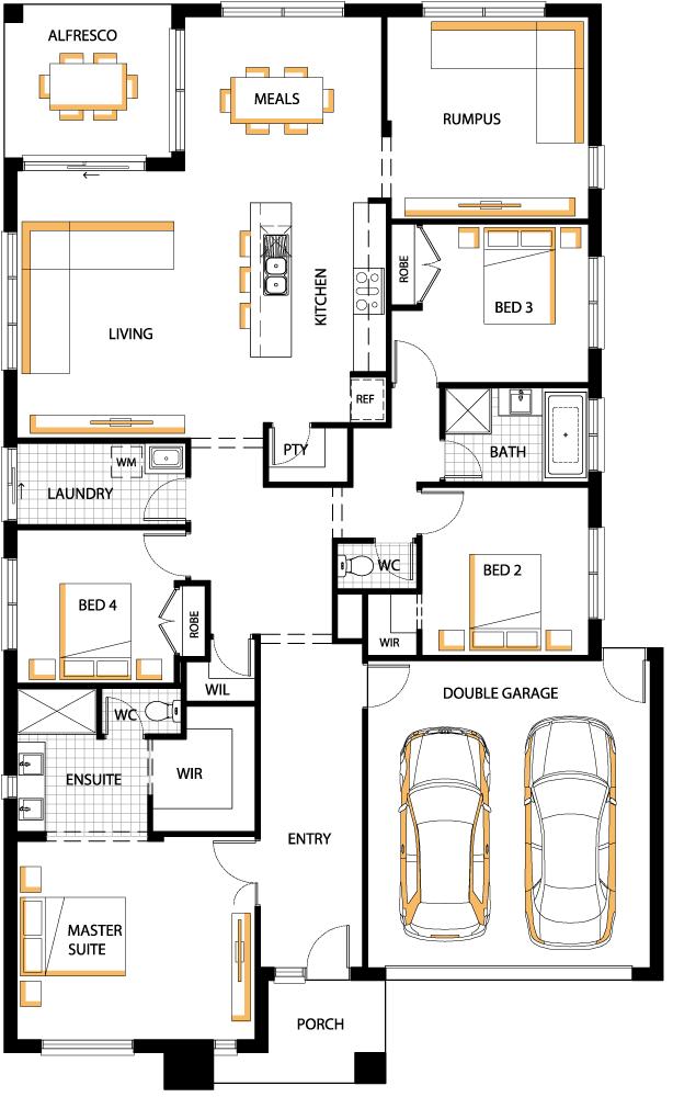 Aspen Floor Plan Carlisle Homes Floor Plans House Plans House Design