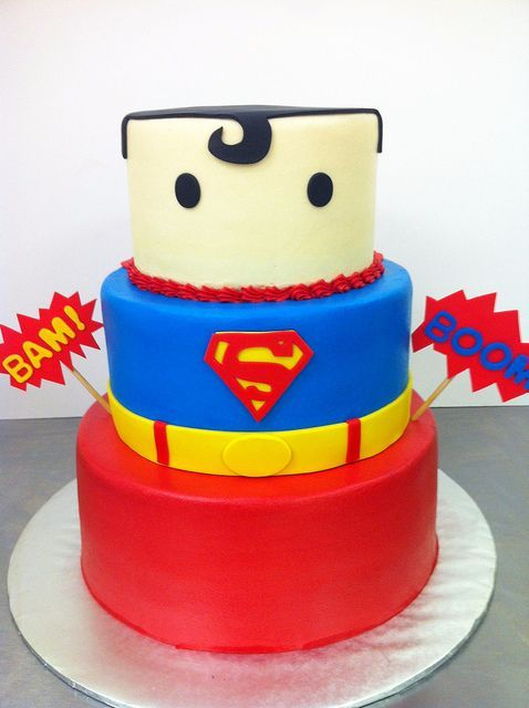 Superman Cake10 By Dpasteles Cake Shop San Antonio TX Via Flickr