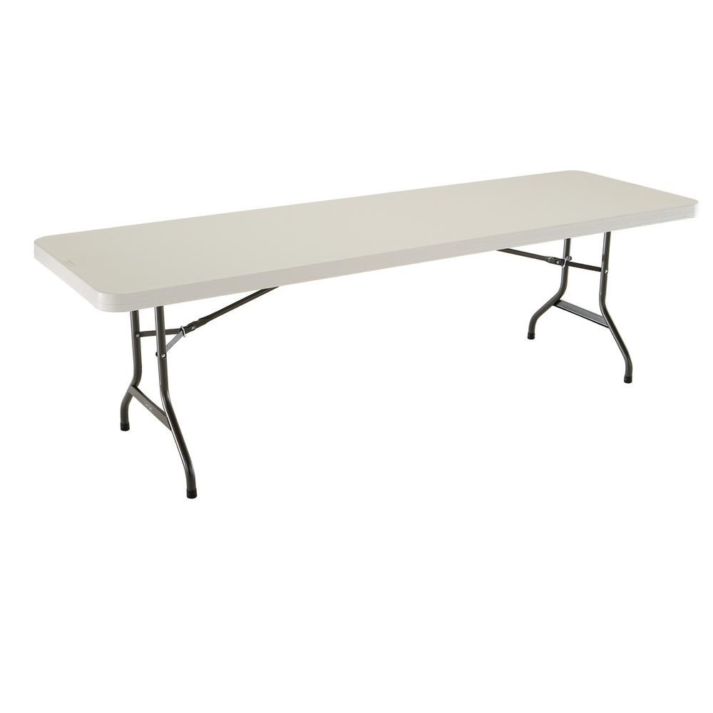 Lifetime 96 In Almond Plastic Folding Banquet Table Brown
