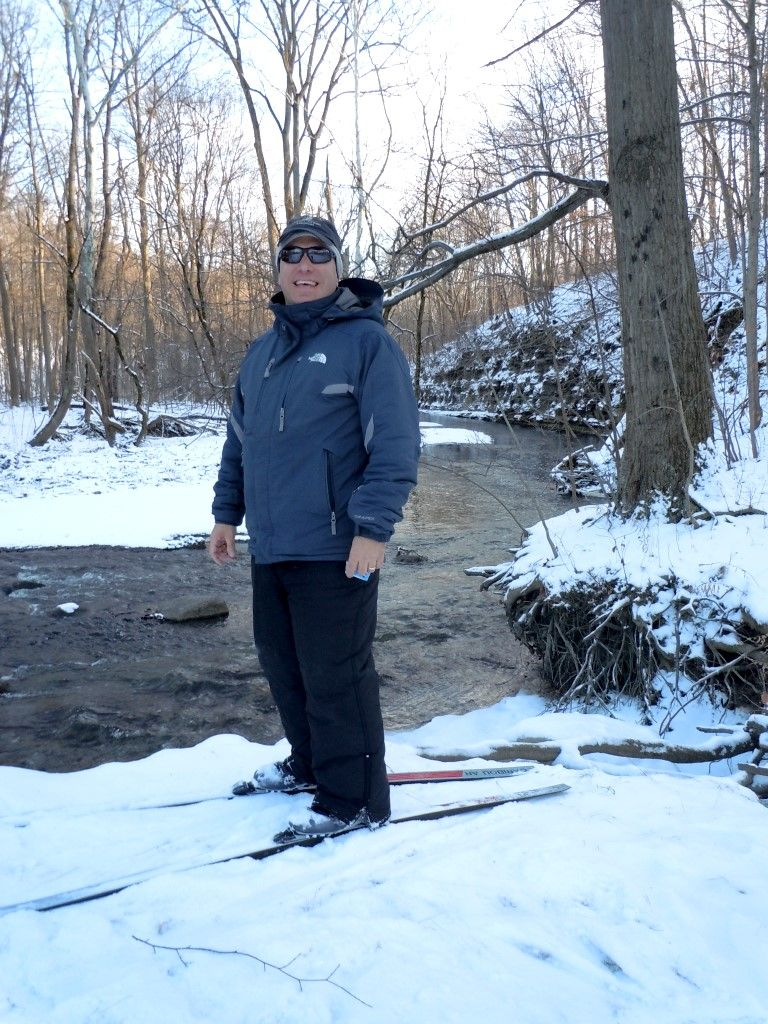 Tom at the French Creek in mid-January 2014.   Typical Northern Ohio Winter.