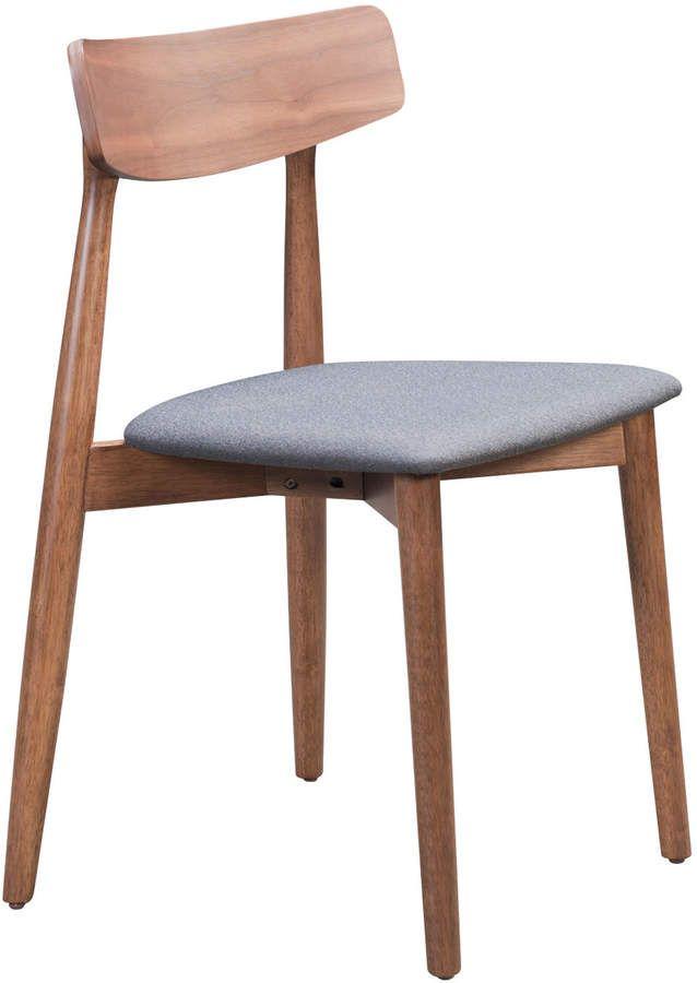 Zuo Mod Newman Walnut Dark Grey Dining Chair In 2019 Products
