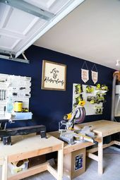 Photo of The Workshop: Our New Metal Pegboards – Love & Renovations Organization of a …