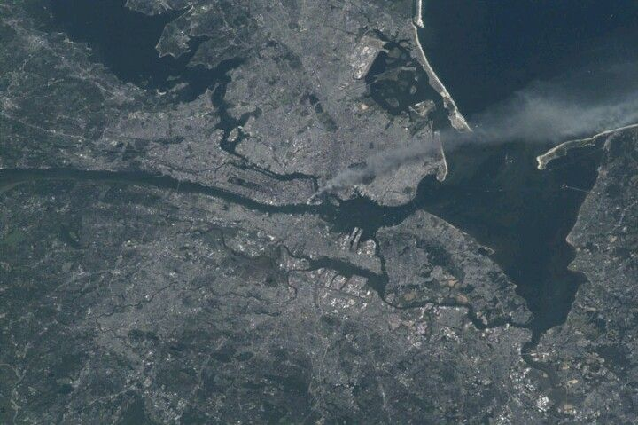 NASA,   the smoke is the twin towers, this is 9/11