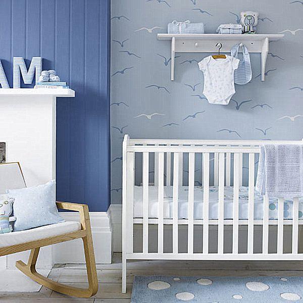Good 25 Stunning Modern Nursery Room Design Ideas : Baby Boy Nursery Idea Design Design
