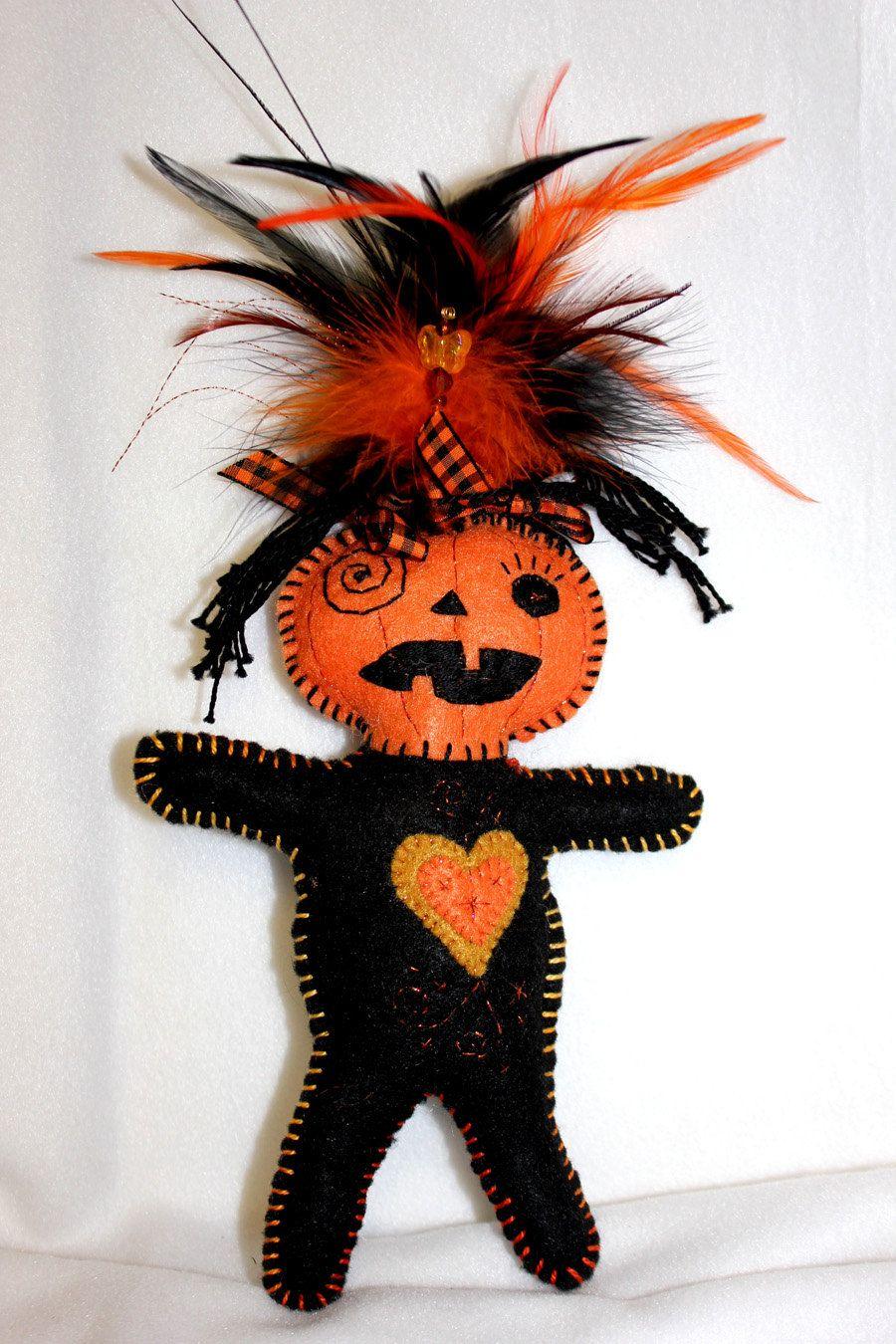 Pumpkin Voodoo Wishing Doll.