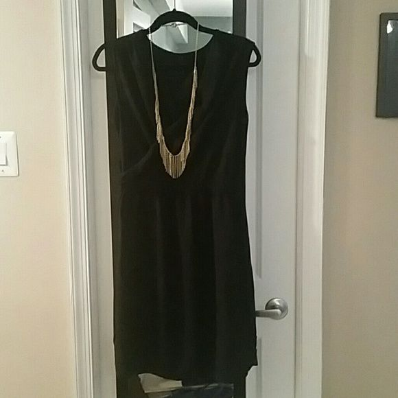 Little Black Dress Little black dress with draping on chest. Light weight material with a cinched waist. Mossimo Supply Co. Dresses