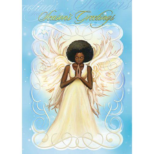 seasons greetings african american christmas card