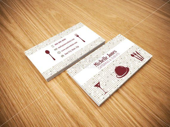 Printable Catering Services Business Cards Custom