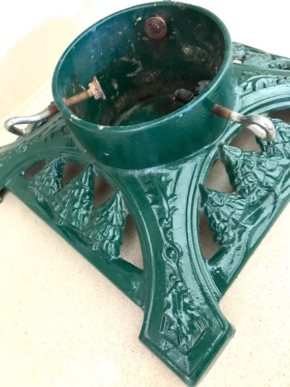 Cast Iron Christmas Tree Stand Ornate Vintage Tree Stand By Ll