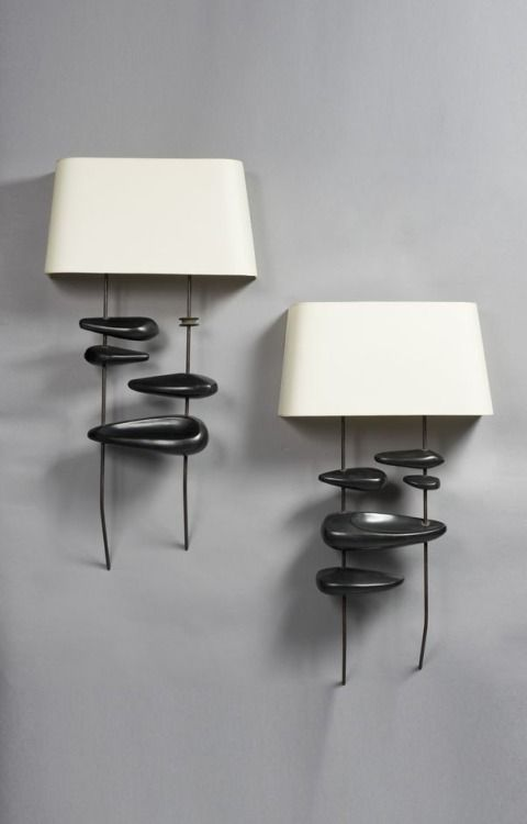 Georges Jouve Ceramic wall lighting