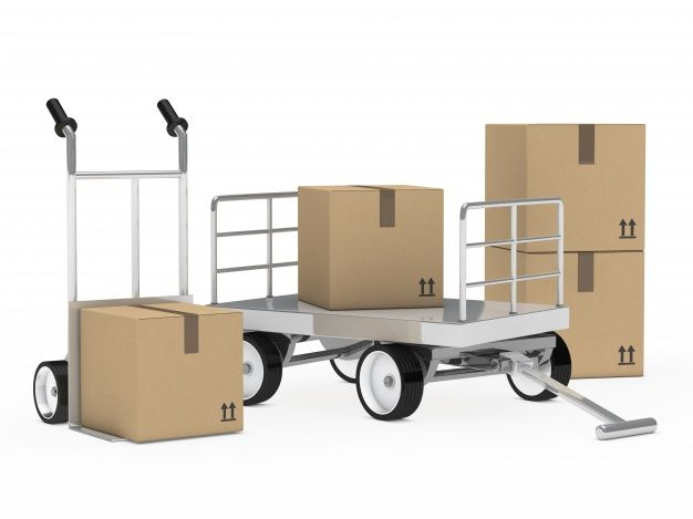 Download Trailer And Trolley With Cardboard Boxes For Free Cardboard Box Cardboard Job Description