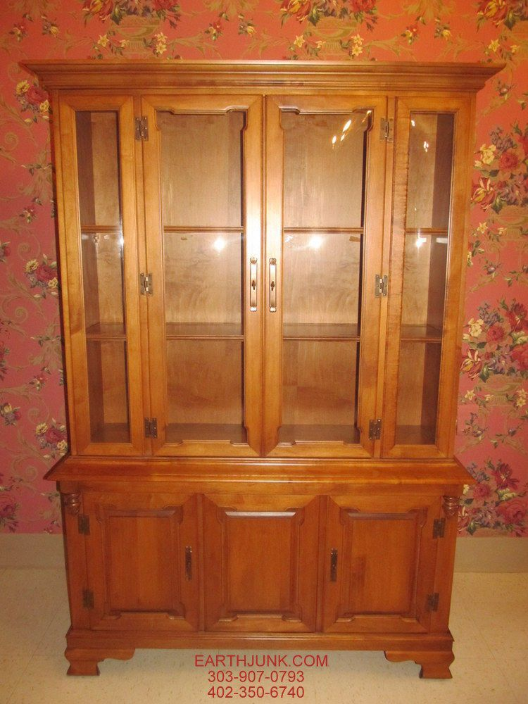 Tell City Crown Bubble Glass 48 Quot China Hutch Hard Rock