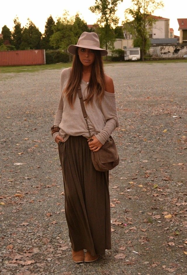 Long Brown Maxi Skirt | Jill Dress