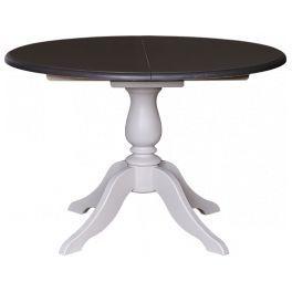 Table de salle à manger ronde à rallonges en pin massif à pied ...