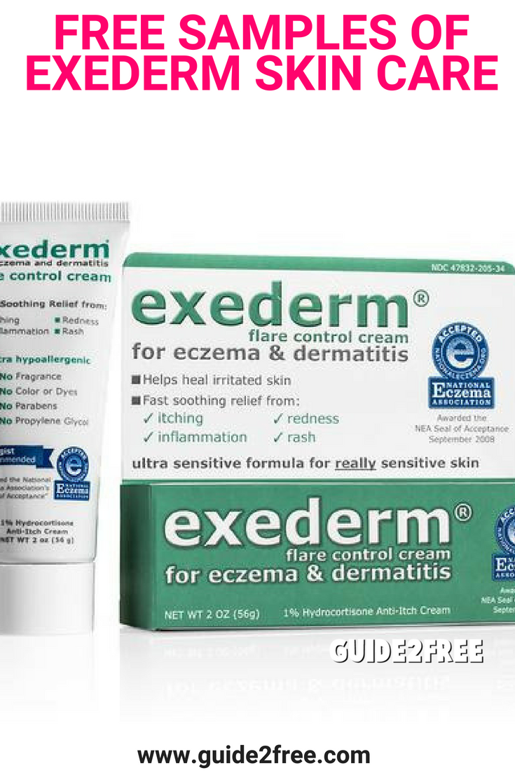 FREE Samples of Exederm Skin Care Heal irritated skin