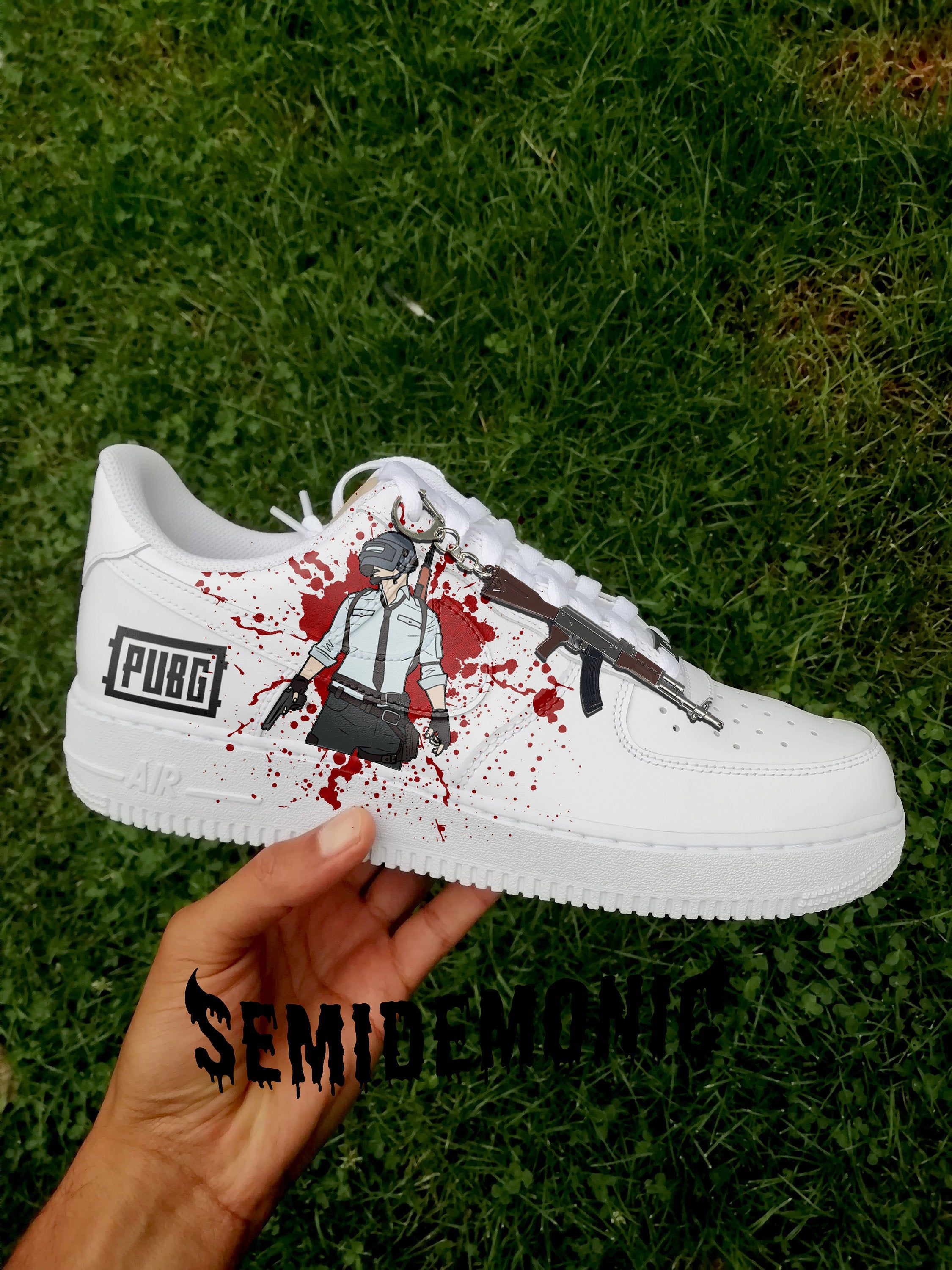 Custom painted abstract nike air force 1 high top   Nike