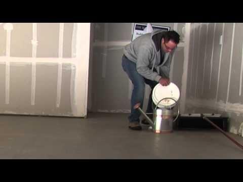 How To Seal Or Glaze Concrete Garage Floor Using Behr Wet Look Sealer Hi Gloss Youtube Concrete Garages Seal Concrete Floor Concrete Basement Floors
