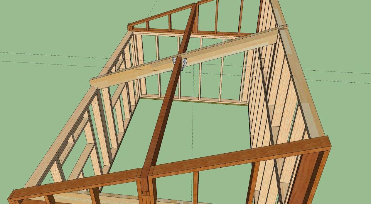 Plan De Charpente Monopente Design De Maison Ralisation Garage Ossature Bois Avis Et Conseil Pour Finalisation 1264 X 696 Pixels Ossature Bois Maison Ossature Bois Maison Bois